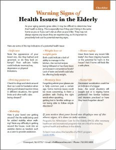 Download the Free Checklist: Warning Signs of Health Issues in the Elderly